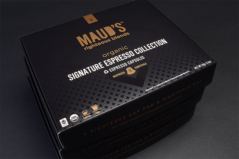 Maud's Righteous Blends: Organic Signature Espresso Collection